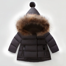 Fashion Baby Girls Clothes Winter Jacket For Boy Kids Warm Hooded Coats Boys Children Outerwear Infant Clothes 1-6 Years цена в Москве и Питере