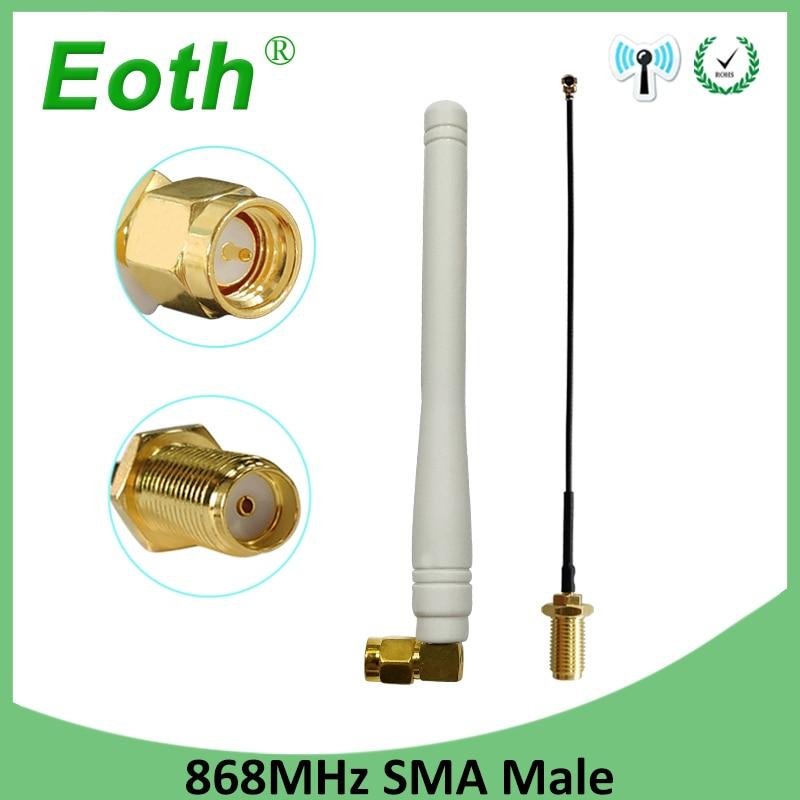 868mhz antenna lora 915mhz antena sma connector rp-sma cable 868 915 mhz lorawan module transiver receiver signal router lte gsm