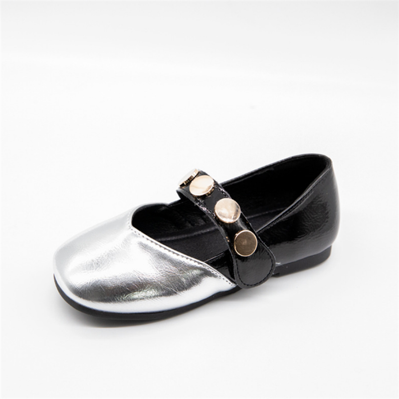 Kids Shoes 2020 Spring Mary Jane Toddler Girls Rivet Dress Shoes Princess Flats Children Dress Party Wedding Flats Soft Leather