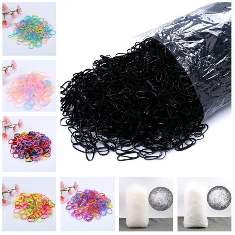 1000pcs Girls Elastics Hair Bands Baby Hair Accessories 1cm TPU Mini Disposable Ponytail Holder Rubber Bands Gum For Hair