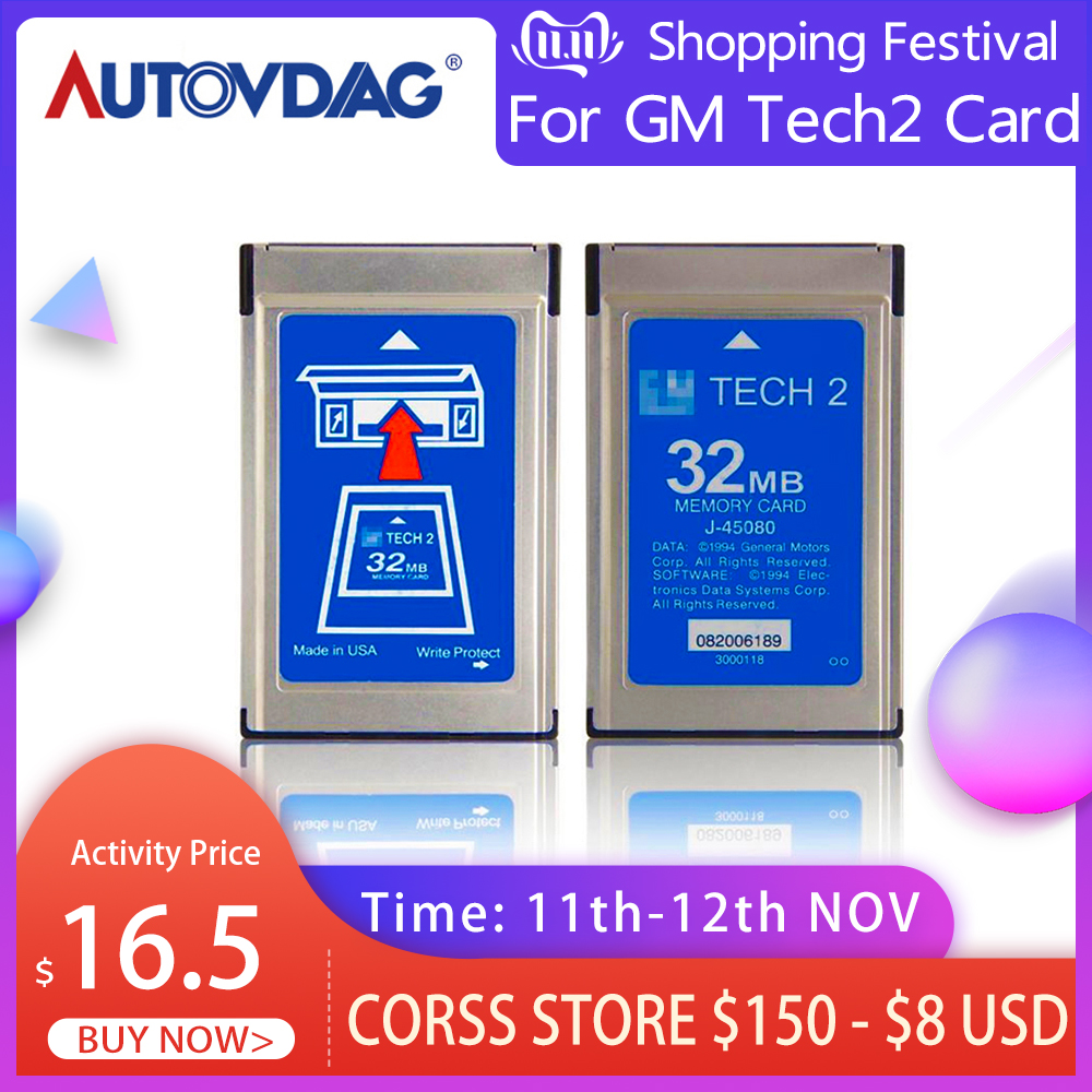 2020 For GM Tech2 Card With 6 Software 32MB Card Car Diagnostic Tool For Holden for Opel for SAAB For SUZUKI For ISUZU