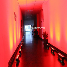 wireless led light bar dmx512 controlable 50cm long 6x12w rgbwauv led bar wallers