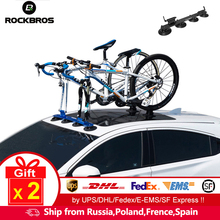Bicycle-Carrier Sucker Bike-Rack Vacuum-Suction ROCKBROS for Cars Roof-Top Quick-Installation