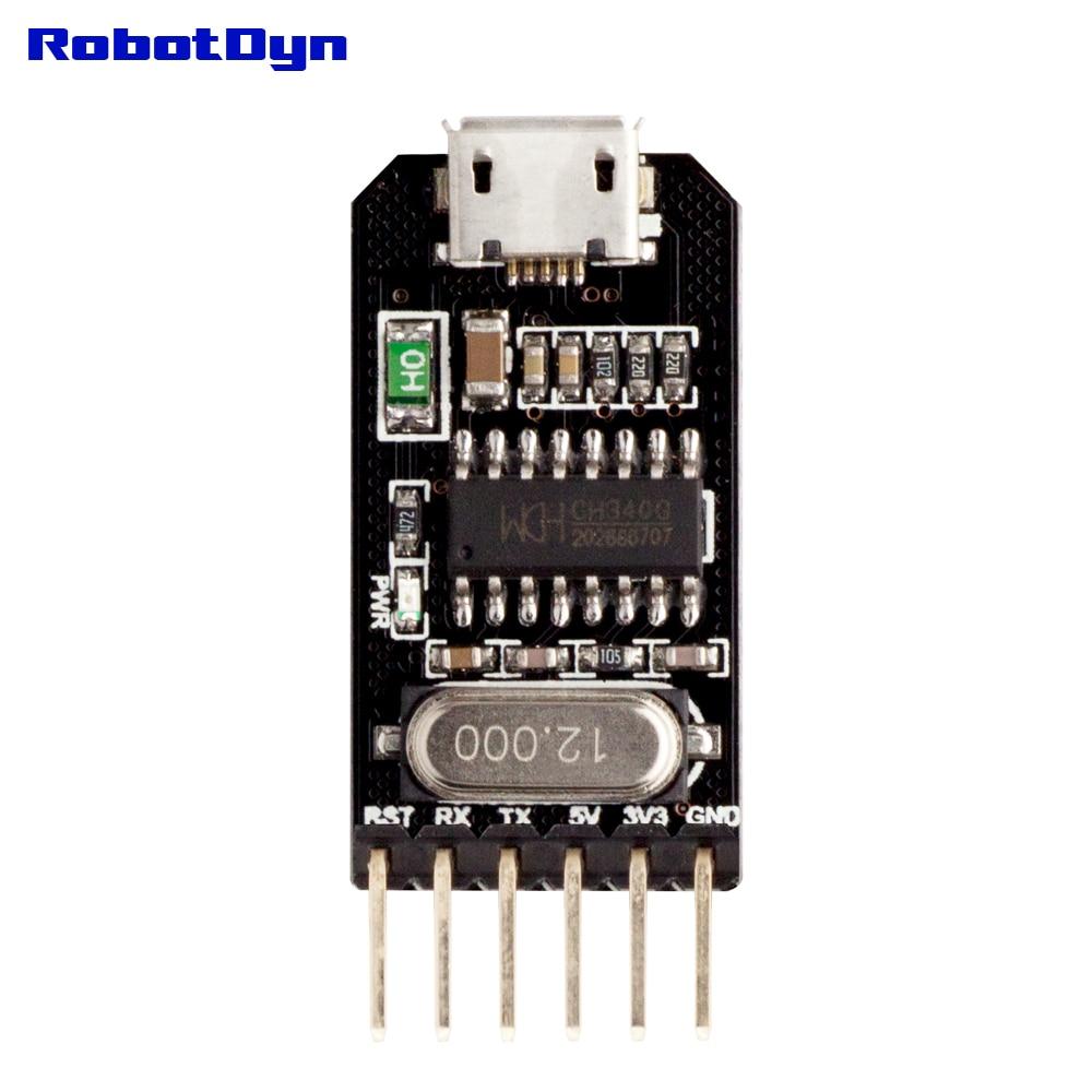 От USB к TTL UART CH340-последовательный преобразователь, припаянный, микро-USB, 5 В/3,3 В. IC CH340G