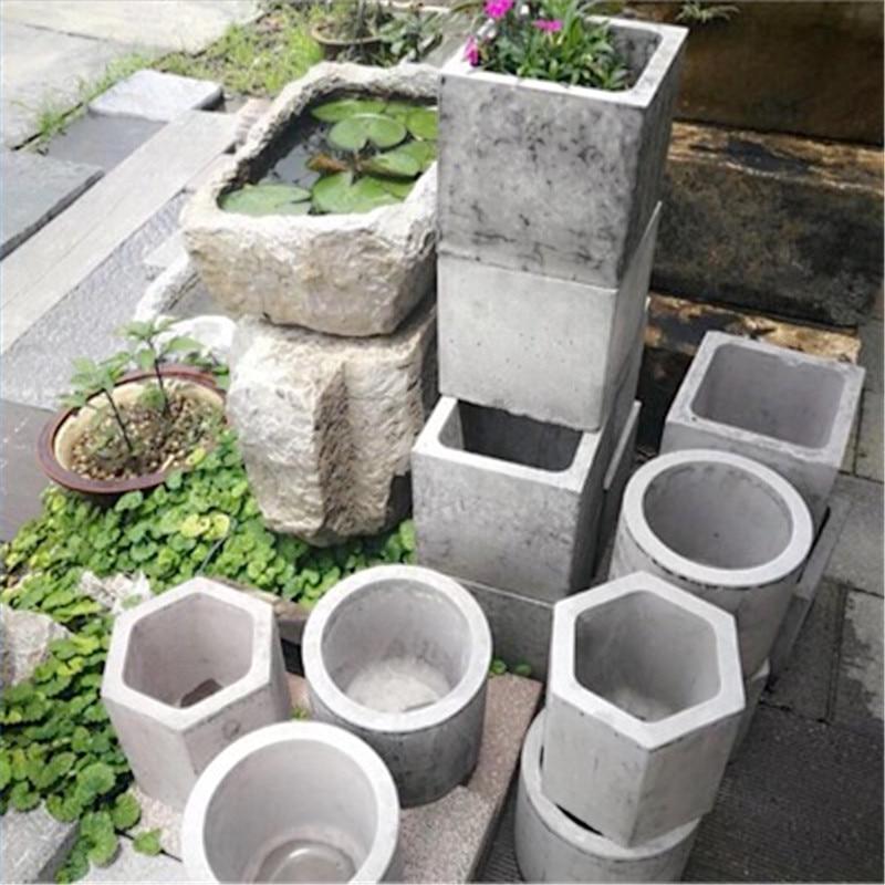 Big Concrete Flower Pot Mold Handmade Clay Cement Vase Plastic Casting Mould DIY Planter Making Tool