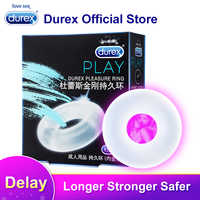 Anneau de plaisir Durex pour anneau d'agrandissement de préservatif manchon de pénis Extender jouets sexuels produits érotiques sûrs pour les hommes retard d'éjaculation