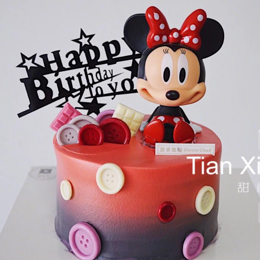Kids Children Toys Cake Topper Cake Decorating Baby Birthday Party Decoration Supplies Mickey Minnie Birthday Gifts For Girl Boy