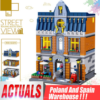 Yeshin Street Building Toys Compatible With 10224 MOC Hill Tavern Toys Model Building Blocks Bricks Kids Christmas Gifts