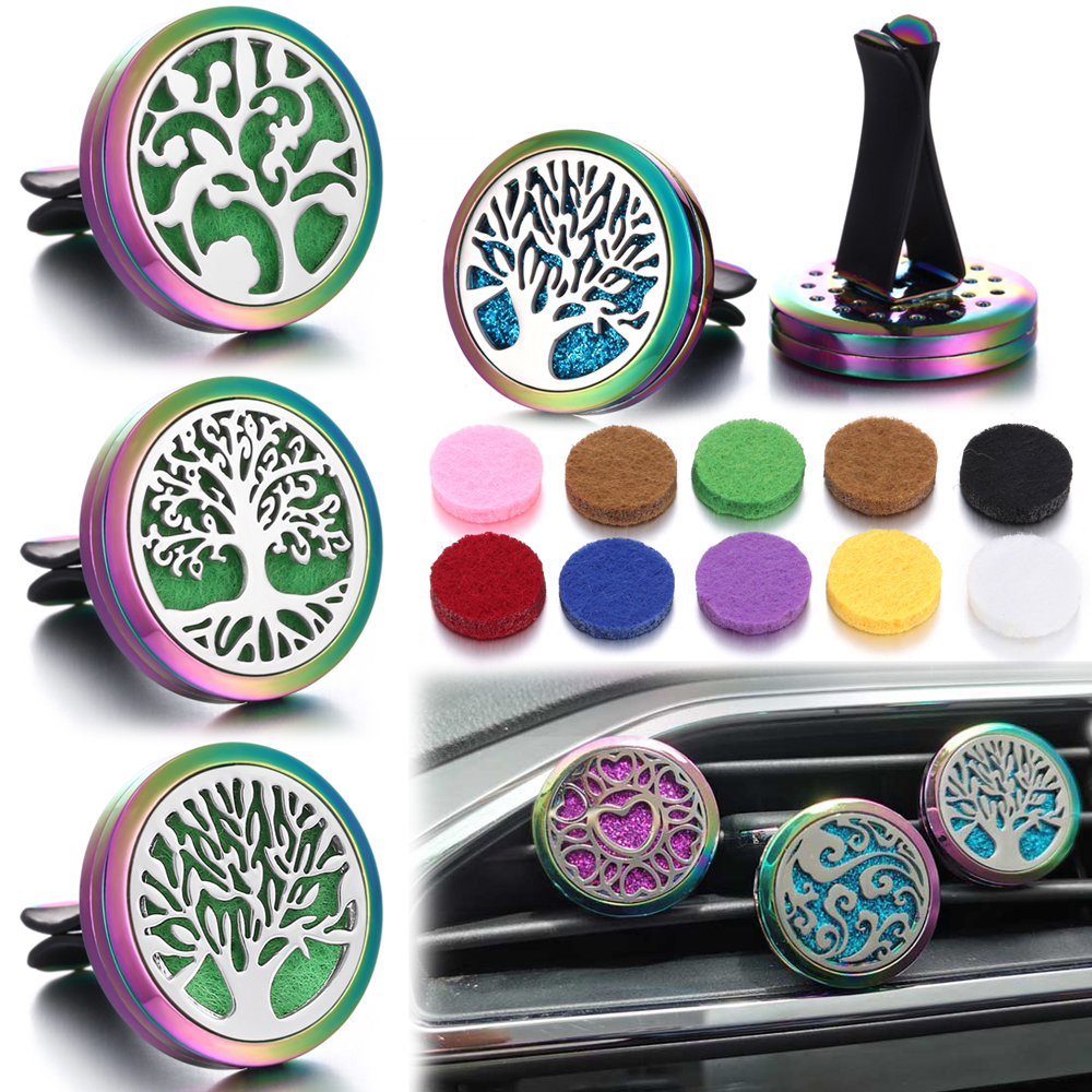 New Colorful Car Perfume Diffuser Clip Tree Vent Car Air Freshener Hanging Auto Outlet Perfume Diffuser Car Interior Decoration