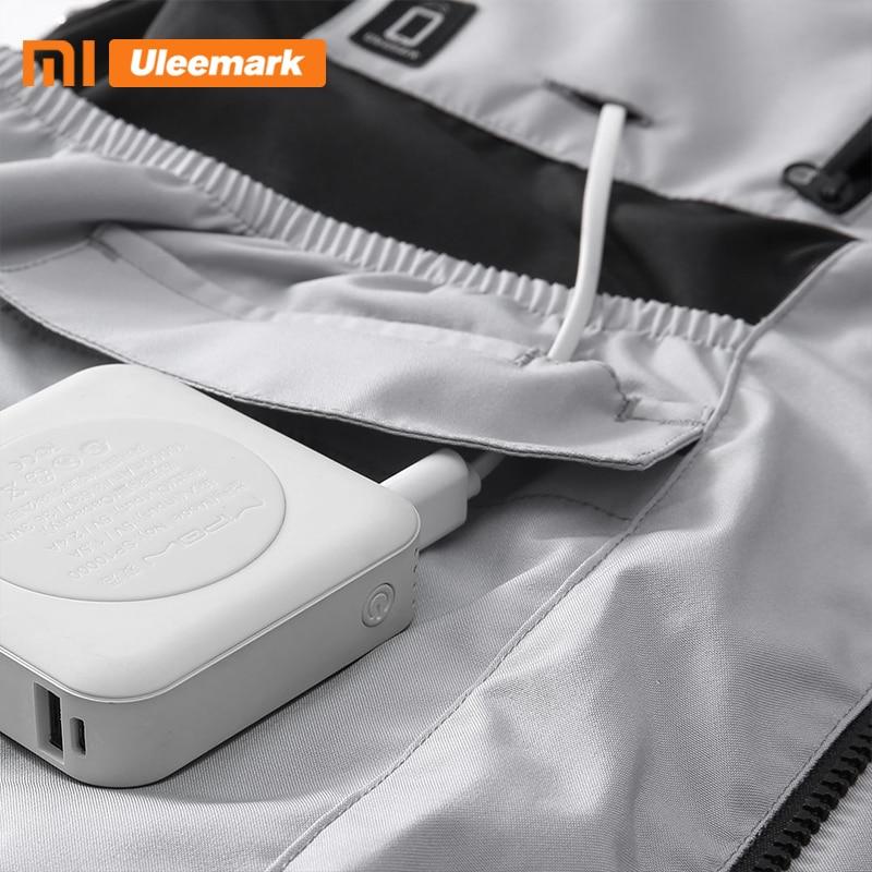 Xiaomi Men's Waterproof Jacket Lightweight Packable Rain Coat Sport Jacket Hooded Windbreaker Uleemark 4