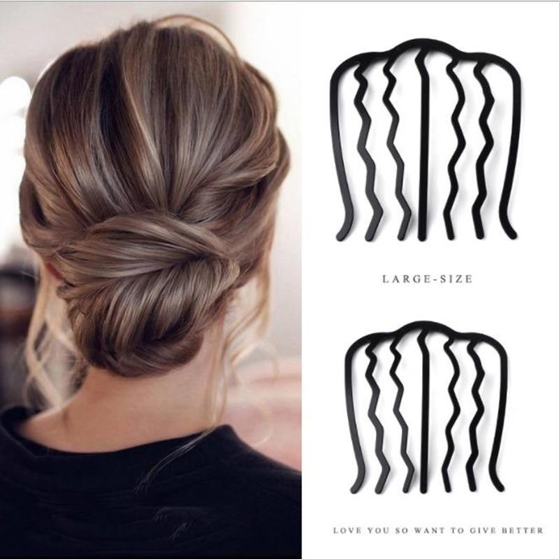 Модная женская заколка для волос, зажим для укладки, приспособление для пучка, инструменты для плетения волос «сделай сам», аксессуары для в...