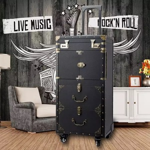 Image 2 - New large capacity Trolley Cosmetic case Rolling Luggage,Multi layer Beauty Tattoo Salons Trolley Suitcase Travel makeup toolbox