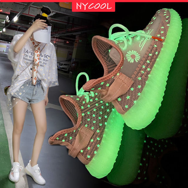 Jesus is king Running Shoes Kanye West NYCOOL Fluorescent Light Up Sneakers  1