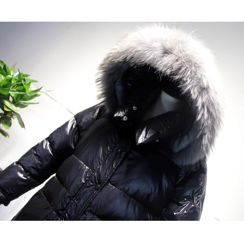 Down Coat Winter Long Duck Down Jacket Woman Hooded Korean Large Fur Collar Oversize Puffer Women's Jackets KJ2684