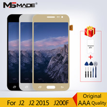 J200 Original Super AMOLED For Samsung Galaxy J2 2015 J200 J200F J200H SM-J200 LCD Display Touch Screen Digitizer Assembly Parts(China)