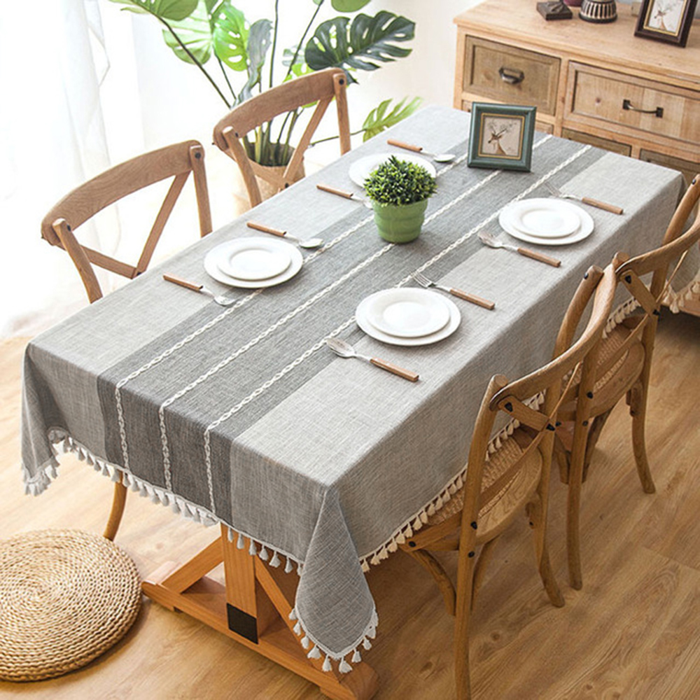 Modern Table Cloth Tassel Iace Rectangle Tablecloth Party Banquet Dining Table Cover Table Cloths Decorative Home Kitchen