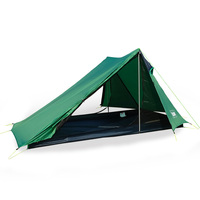 A Peak Ultralight Tent 1 2 Person for Camping Hiking Backpacking Poleless Waterproof Solo Single Bivvy Tent 20D Silicone Tent