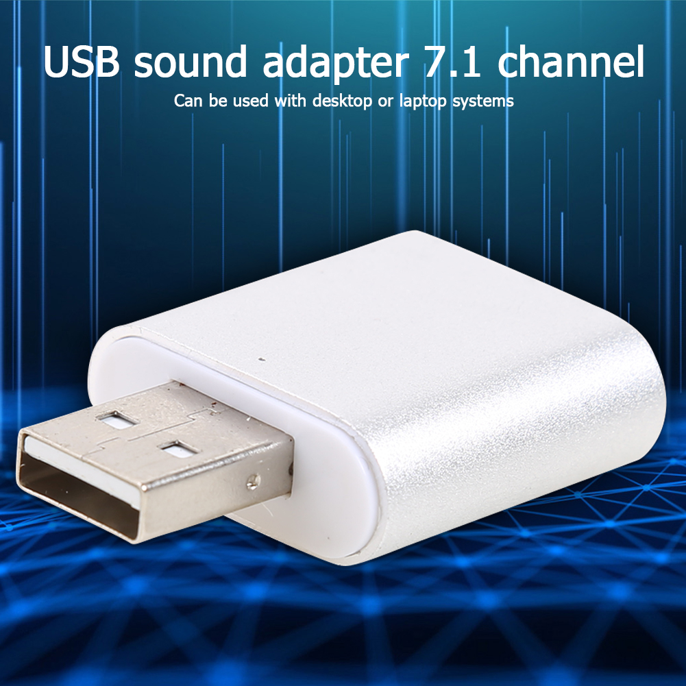 Virtual 7.1 External USB Sound Card Audio Interface Headphone Adapter Soundcard for Microphone Speaker Laptop Computer PC 3