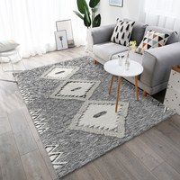 Grey Simple Nordic Carpets For Living Room Bedroom Rug Geometry Chinese Style Sofa Mat Rectangle Modern 3D Carpet Kid Room Decor
