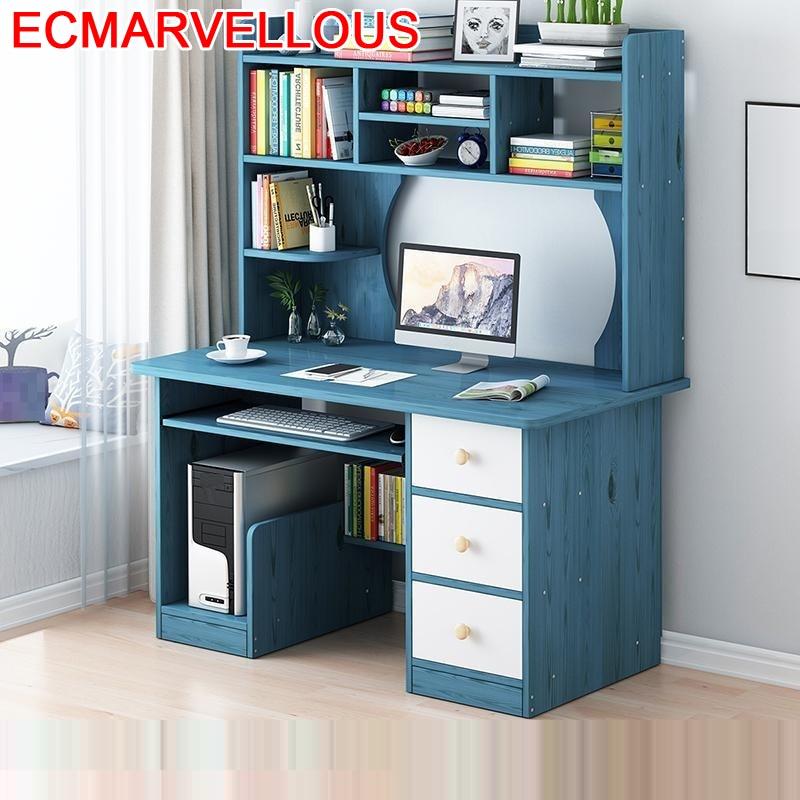 Escritorio De Oficina Schreibtisch Office Bed Notebook Standing Desk Tablo Mesa Laptop Stand Computer Table With Bookcase