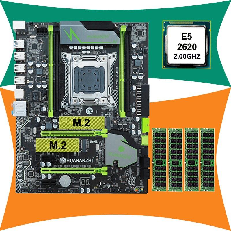 ยี่ห้อ HUANAN ZHI X79 LGA2011 เมนบอร์ด M.2 สล็อต SSD ส่วนลดเมนบอร์ด CPU Xeon E5 2620 2.0GHz SR0KW RAM 16G (4*4G)-ใน แผงวงจรหลัก จาก คอมพิวเตอร์และออฟฟิศ บน AliExpress - 11.11_สิบเอ็ด สิบเอ็ดวันคนโสด 1
