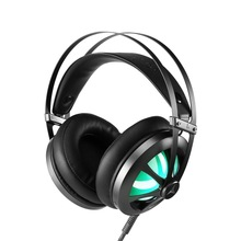 Gaming Headset Stereo Over-ear Gaming Headphones with LED Light Built-in Microphone Wired Game Earphones for PS4 PC Gamer computer wired gaming headphone earphones headband gaming headset over ear game headphone with microphone mic led light for pc