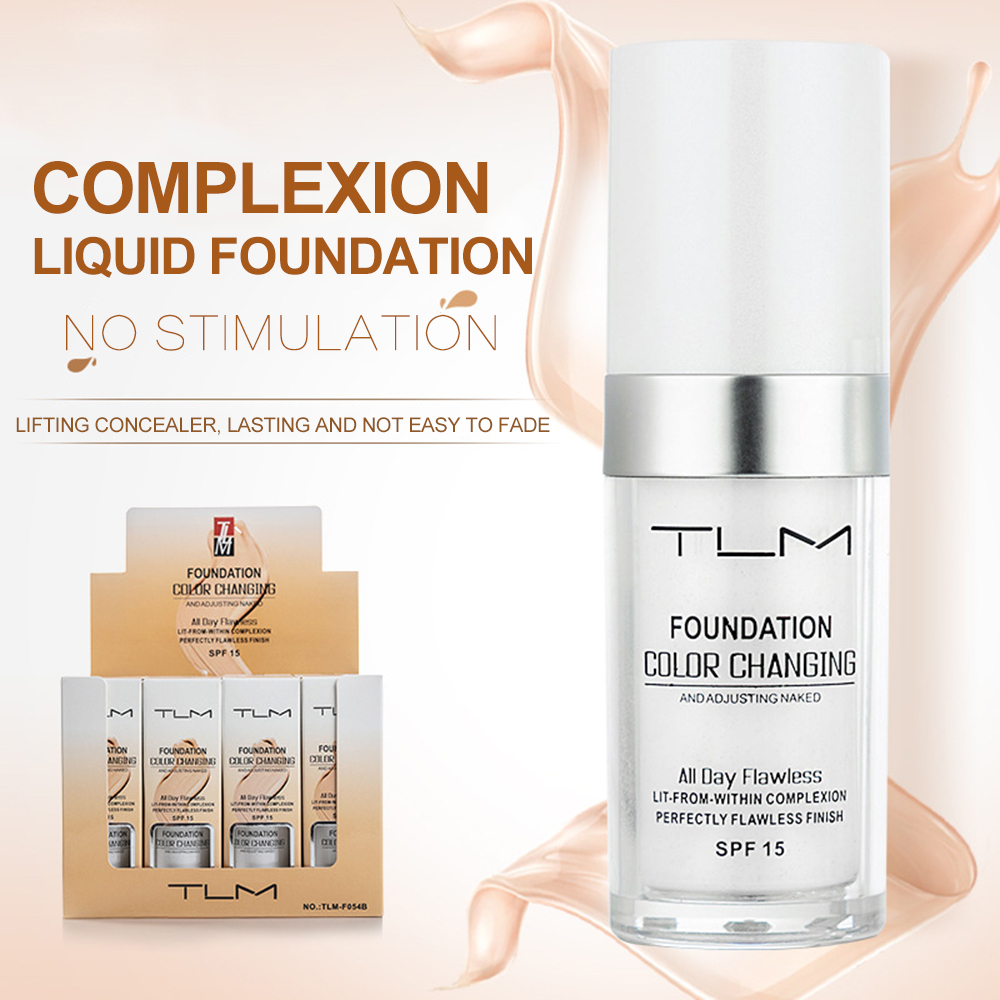TLM Basic Products Magic Color Changing Basic Products - Oil control Liquid Makeup Basic Products Moisturizing Concealer Long T
