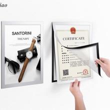 5 шт. A4 Гибкая Рамка из ПВХ для фотографий документы уведомление настенные плакаты установлен серебряная рамка