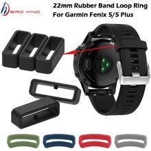 Pulseira de relógio de borracha faixa keeper loop segurança titular retentor anel para garmin fenix 5 plus 6 para forerunner 945 935 235 630 735