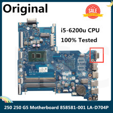 CPU Laptop Motherboard I5-6200u Hp 250 858581-001 LA-D704P for 250/G5/15-ay with VGA