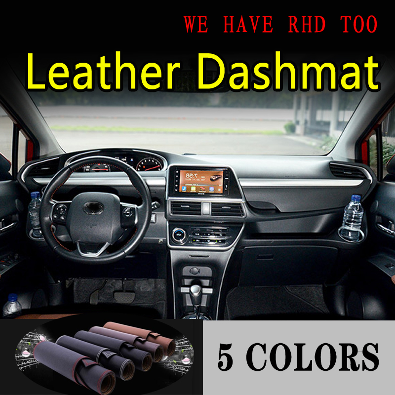 For Toyota Sienta G2 2016 2017 2019 2020 Leather Dashmat Dashboard Cover Dash Mat Sunshade Carpet Car Styling Auto Accessories
