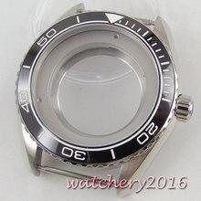 45mm PARNIS ceramic bezel Watch Case fit Miyota 8215 2836 automatic movement