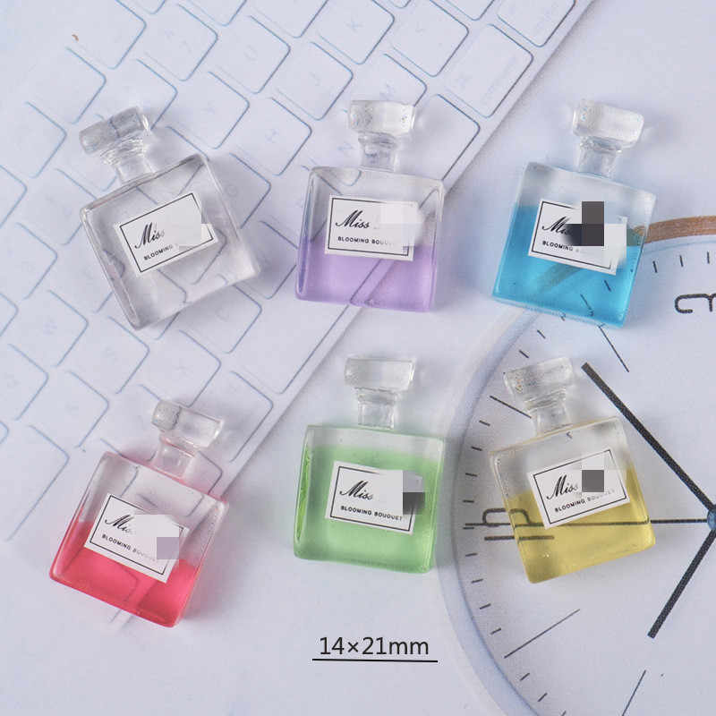 4pcs Slime Cute Charms Perfume Bottle Resin Plasticine Slime Accessories Beads Making Supplies For DIY Scrapbooking Crafts toys