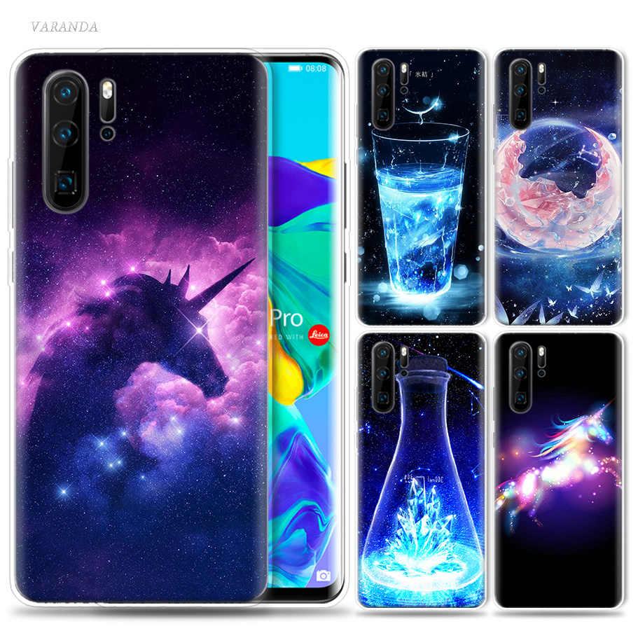 Unicorn Wing Water Cup Case for Huawei P20 P30 P Smart Z Plus Mate 30 10 20 Nova 5 5i P10 P9 lite Pro Silicone Phone Coque Cover