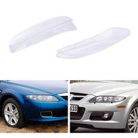 New Car Headlight Glass Cover Clear Automobile Left Right Headlamp Head Light Lens Covers Styling For Mazda 6 2003-2008 TSLM1 5