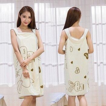 10pcs Multiuse Dress Can Wear Sling Lovely Printed Bath Dress Bath Towel Anti Light Beauty Dress Summer Bath Towel Sleepskirt