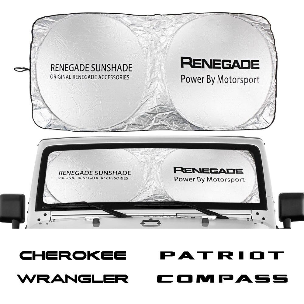 Car Windshield Sun Shade Cover For JEEP Renegade Patriot Wrangler Cherokee Compass Trail Hawk Auto Accessories Anti UV Reflector