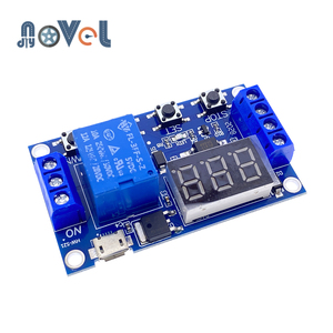 Светильник индикатор постоянного тока 5 В, 12 В, 24 В, Цифровое реле времени с задержкой времени, 1 способ, реле, реле с задержкой времени, печатная плата, модуль управления временем «сделай сам»