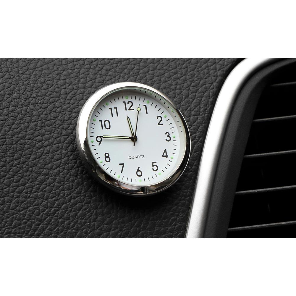 Car Ornament Automotive Clock Auto Watch Automobiles Interior Decoration Stick-On Clock Ornaments Accessories