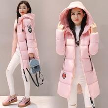 Parka de mujer 2019 chaqueta de invierno Abrigo con capucha prendas de vestir Parkas largas femeninas de algodón grueso acolchado forro de señora abrigos básicos