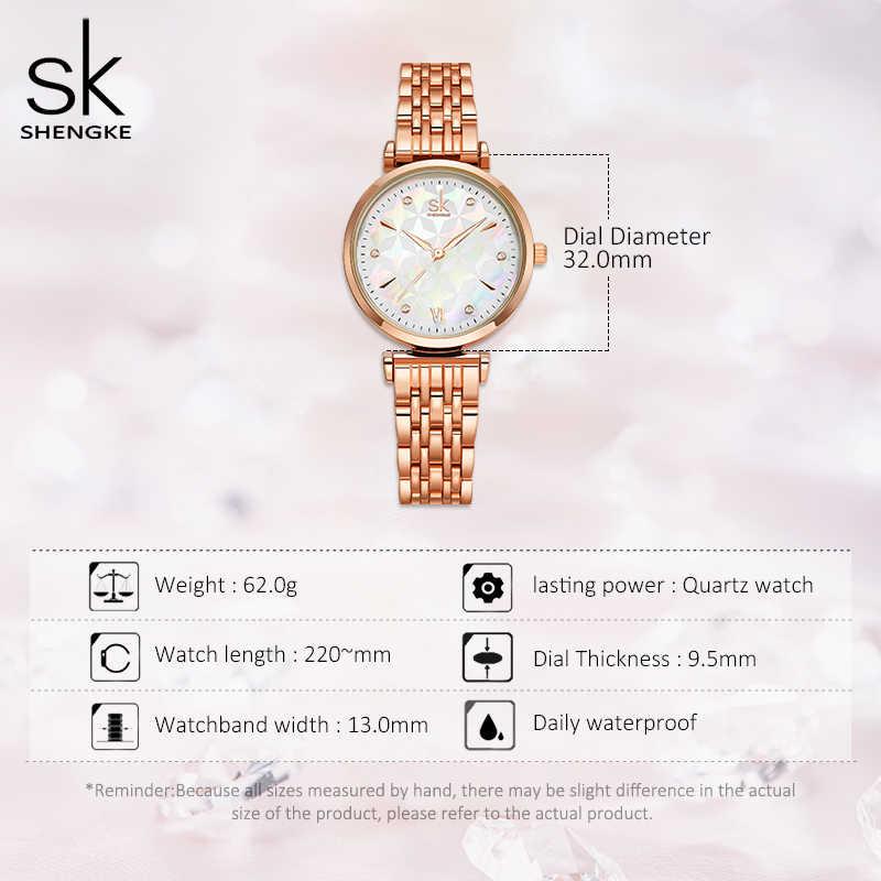 แบรนด์ Shengke สร้อยข้อมือผู้หญิงนาฬิกา Rosegold นาฬิกาข้อมือสำหรับผู้หญิงนาฬิกา Reloj Mujer 2020 ของขวัญใหม่
