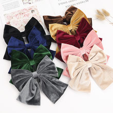 New Women Bow Barrettes Hair Hairpin Casual Turban Girl Hair Accessories Cute Lady Beauty Hair Accessories Whole Hairbands(China)