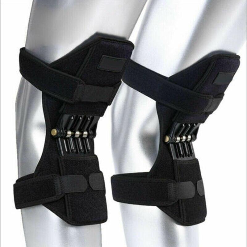 Novo suporte articulações joelheiras respirável antiderrapante elétrica lift joint poderoso rebote mola força joelho cinta ortofit estabilizador