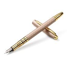HERO 703 คุณภาพสูง 10K Gold Fountain ปากกาปากกาปากกา 0.5 มม.โลหะ