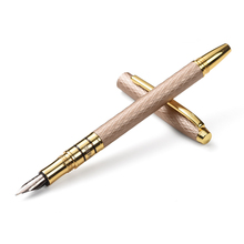 Herói 703 de alta qualidade luxo 10 k ouro caneta caneta tinta 0.5mm metal cheio