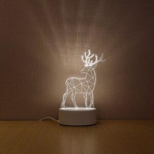 Image 5 - SOLOLANDOR Lámpara LED 3D creativa, luces de noche 3D, novedad, ilusión 3D, lámpara de mesa para luz decorativa de hogar