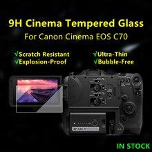 Eos c70 كاميرا طبقة رقيقة واقية الزجاج لكانون سينما EOS C70 كاميرا 9H صلابة C70 الزجاج المقسى رقيقة جدا واقي للشاشة