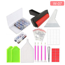 Diamond Painting Tools Diamond Embroidery Accessories Sets Roller pen Clay Tray Cross stitch KIt sticker Storage Box