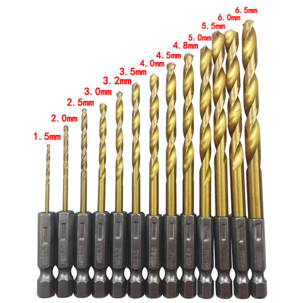 13 Pcs//set Manual Hex Shank High Speed Steel Mini Accessories Electric Set Drill