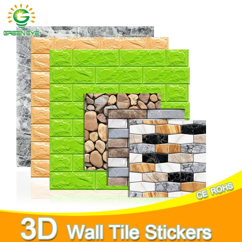 Papel tapiz 3D, pegatina de mármol DIY, 70cm * 77cm, pegatinas de pared impermeables, paneles de pared 3d para sala de estar, papel tapiz de piedra de ladrillo 3D